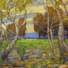 "American Legacy Fine Arts presents ""View from the Grove"" a painting by Karl Dempwolf."