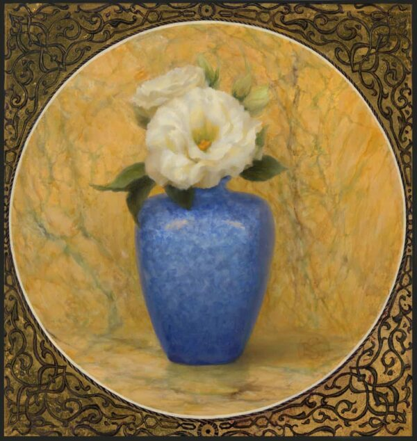 "American Legacy Fine Arts presents ""Blue Vase"",a painting by Kate Sammons."