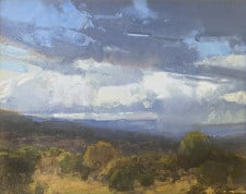 "American Legacy Fine Arts presents ""Scattered Showers"" a painting by Bill Anton."
