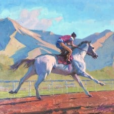 "American Legacy Fine Arts presents ""Morning Ride"" a painting by Alexey Steele."