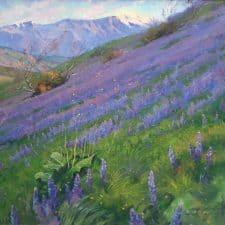 "American Legacy Fine Arts presents ""Purple Wonder"" a painting by Alexey Steele."