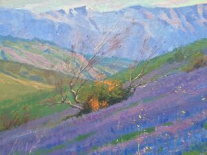 """American Legacy Fine Arts presents """"Purple Wonder"""" a painting by Alexey Steele."""