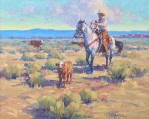 """American Legacy Fine Arts presents """"MOM M M!"""" a painting by Jean LeGassick."""