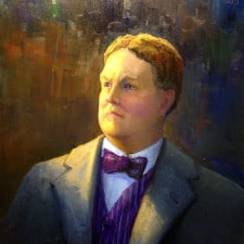 "American Legacy Fine Arts presents ""Edward B. Tufts"" a painting by Peter Adams."