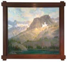 """American legacy Fine Arts presents """"Sierra Grandeur"""" a painting by Peter Adams."""