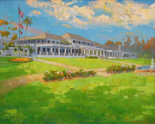 "American Legacy Fine Arts presents ""The New Clubhouse"" a painting by Peter Adams."