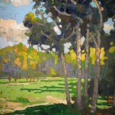 "American Legacy Fine Arts presents ""Late Afternoon Off the Path"" a painting by Peter Adams."