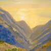 "American Legacy Fine Arts presents, ""Glare and Mist over Grand and Silver Canyon; Catalina"" a painting by Peter Adams."
