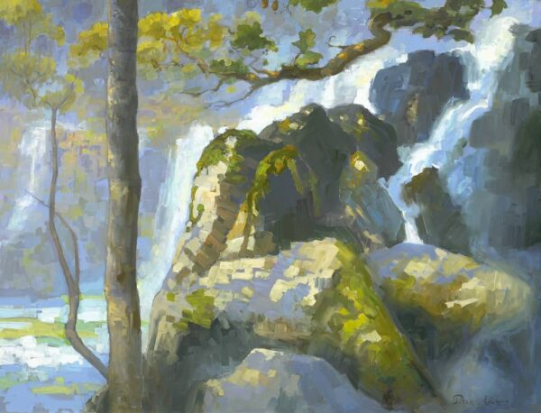 "American Legacy Fine Arts presents ""Chilnuhuana Falls' a painting by Peter Adams."