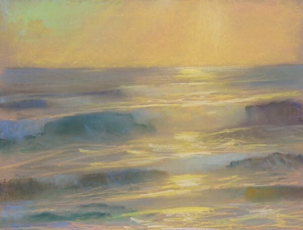 "American Legacy Fine Arts presents ""Glory; St. Malo, Carlsbad, California"" a painting by Peter Adams."