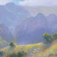 "American Legacy Fine Arts presents ""Lifting Haze, Malibu State Park"" a painting by Peter Adams."