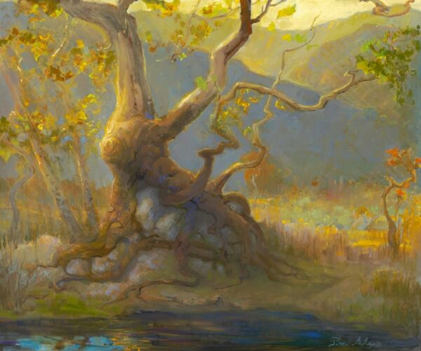 "American Legacy Fine Arts presents ""Octopus Tree"" a painting by Peter Adams."