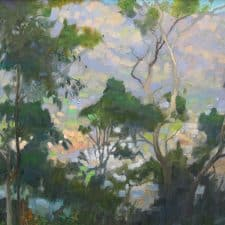 "American Legacy Fine Arts presents ""Overlooking the Arroyo"" a painting by Peter Adams."