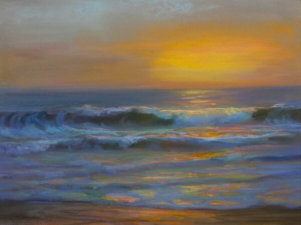 "American Legacy Fine Arts presents ""Pacific Gold"" a painting by Peter Adams."