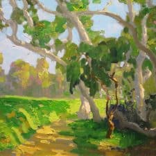 "American Legacy Fine Arts presents ""Patterns on the Rough by the 17th"" a painting by Peter Adams."