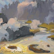 "American Legacy Fine Arts presents ""Plumes of Steam"" a painting by Peter Adams."