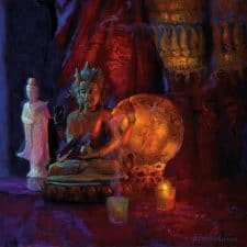 "American Legacy Fine Arts presents ""Prajnaparamita, Perfection of Wisdom"" a painting by Peter Adams."