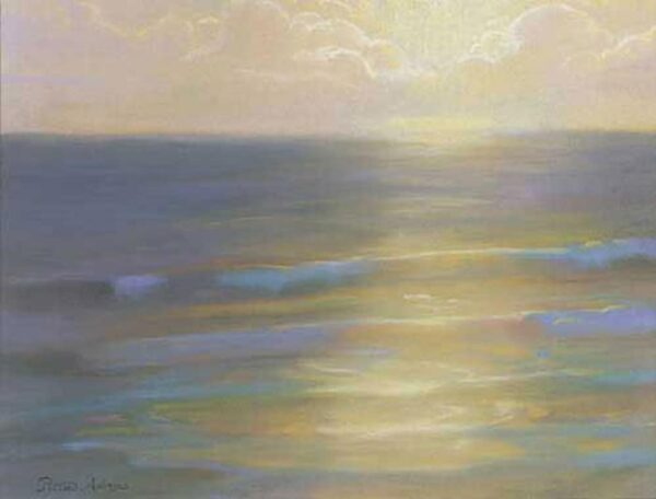 "American Legacy Fine Arts presents ""Soft Light and sea Mist"" a painting by Peter Adams."