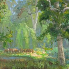 "American Legacy Fine Arts presents ""Tejon Forest"" a painting by Peter Adams."