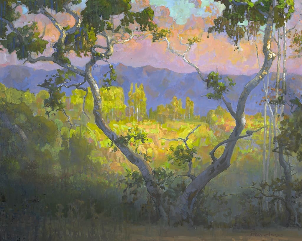 american legacy fine arts presents view of amirs garden at sunrise griffith park - Amirs Garden