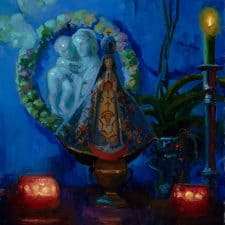 "American Legacy Fine Arts presents ""Virgin of San Juan de los Lagos"" a painting by Peter Adams."