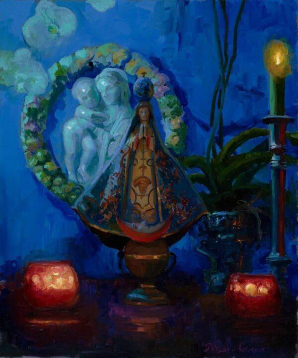 "American Legacy Fine Arts presents ""Virgin of San Juan de los Lagos"" a painting by Peter Adams."