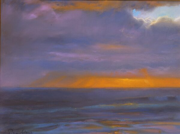 "American Legacy Fine Arts presents ""Winter Storm Cloud"" a painting by Peter Adams."