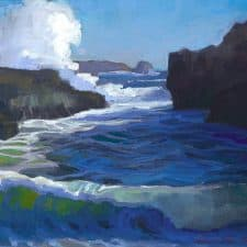 "American Legacy Fine Arts presents ""Pirate Cove, Pt. Lobos, Carmel"" a painting by Peter Adams."