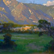 "American Legacy Fine Arts presents ""Quiet Shadow; Arroyo Seco"" a painting by Peter Adams."