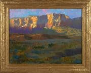 "American Legacy Fine Arts presents ""Desert Radiance; Vermillion Cliffs"" a painting by Peter Adams."