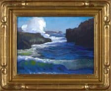 "American Legacy Fine Arts presents ""Pirate's Cove, Pt. Lobos, Carmel"" a painting by Peter Adams."