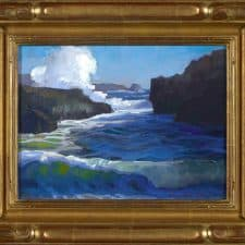 """American Legacy Fine Arts presents """"Pirate's Cove, Pt. Lobos, Carmel"""" a painting by Peter Adams."""