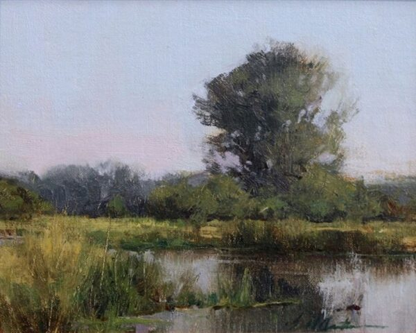 "American Legacy Fine Arts presents ""Montana Wetlands"" a painting by Bill Anton."