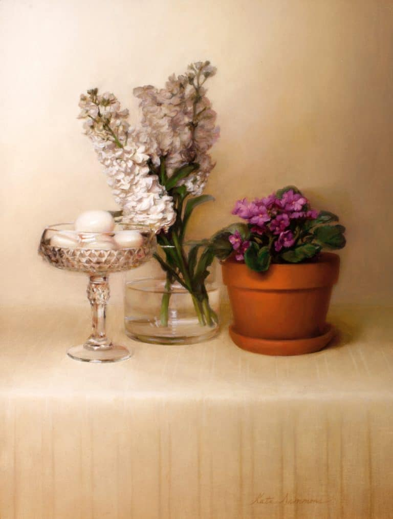 "American Legacy Fine Arts presents ""Wall Flowers"" a painting by Kate Sammons."