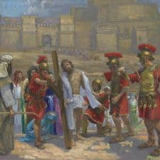 "American Legacy Fine Arts presents ""14 Stations of the Cross (10) Jesus is Stripped"" a painting by Peter Adams."