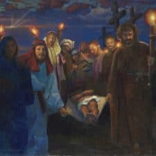 "American Legacy Fine Arts presents ""14 Stations of the Cross (14) The Entombment"" a painting by Peter Adams."