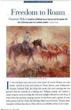 American Legacy Fine Arts presents Suzanne Baker in Southwest Art Magazine March 2003 Issue.