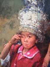 "American Legacy Fine Arts presents ""What Happened, Boy from Guizhou"" a painting by Jove Wang."