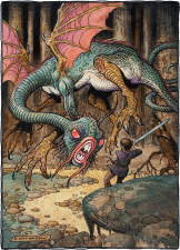 "American Legacy Fine Arts presents ""The Jabberwock"" a painting by William Stout."