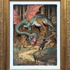 """American Legacy Fine Arts presents """"The Jabberwock"""" a painting by William Stout."""