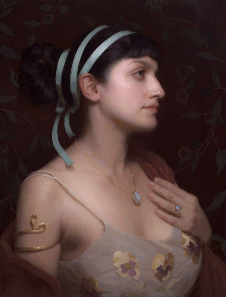 "American Legacy Fine Arts presents ""Azure"" a painting by Adrian Gottlieb."