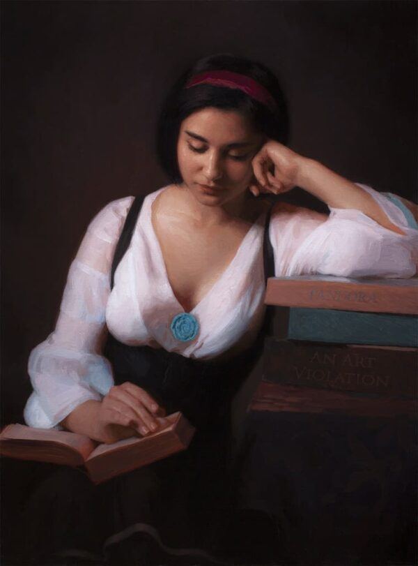 """American Legacy Fine Arts presents """"Becoming"""" a painting by Adrian Gottlieb."""