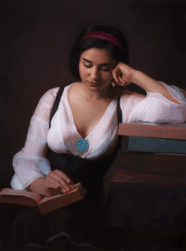 "American Legacy Fine Arts presents ""Becoming"" a painting by Adrian Gottlieb."