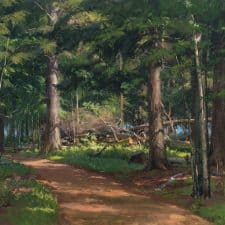 "American Legacy Fine Arts presents ""Splintered Hemlock"" a painting by Joseph Paquet."