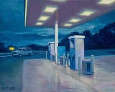 "American Legacy Fine Arts presents ""Night Gas"" a painting by Tony Peters."