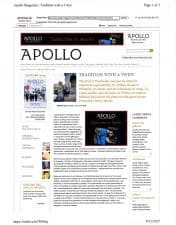 American Legacy Fine Arts presents Adrien Gottlieb in Apollo Online January 2013.
