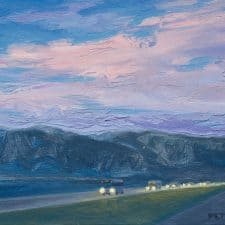"American Legacy Fine Arts presents ""Evening Route"" a painting by Tony Peters."