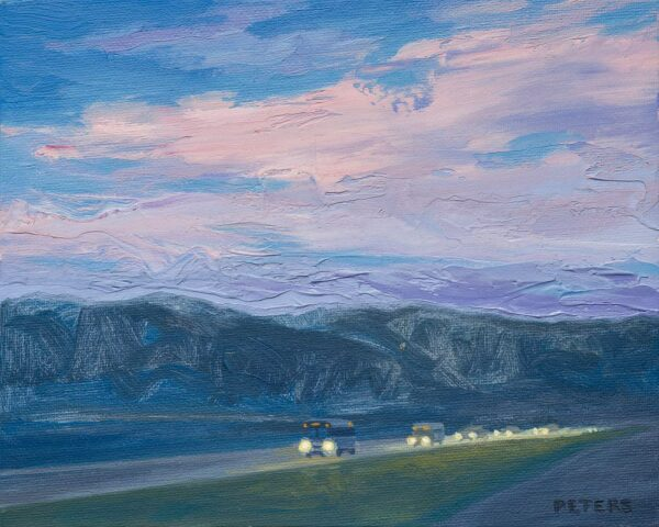 """American Legacy Fine Arts presents """"Evening Route"""" a painting by Tony Peters."""