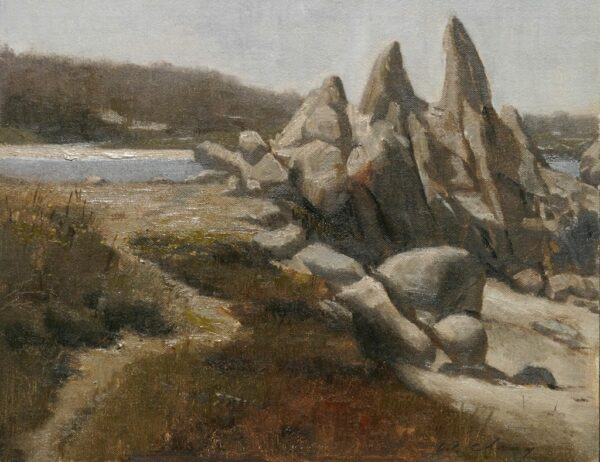 "American Legacy Fine Arts presents ""Monastery Beach; south of Carmel and north of Big Sur"" a painting by Warren Chang."