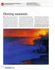 "American Art Collector features ALFA's ""Fleeting Moments: Works en Plein Air"" exhibition."